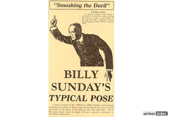 Billy Sunday Typical Pose