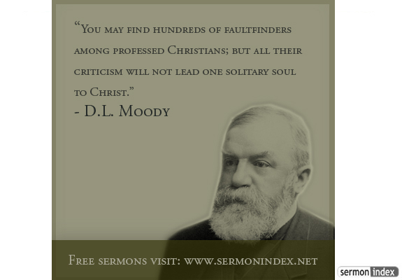 Dl Moody Quotes Simple DL Moody Quote Sermon Index