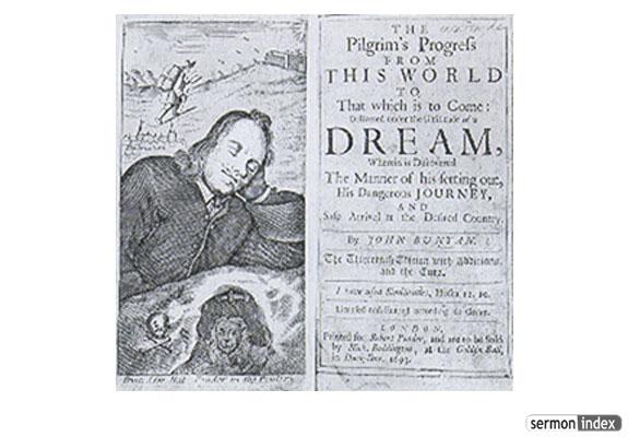 Inside of Pilgrims Progress title page