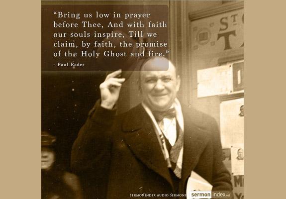 Paul Rader Quote