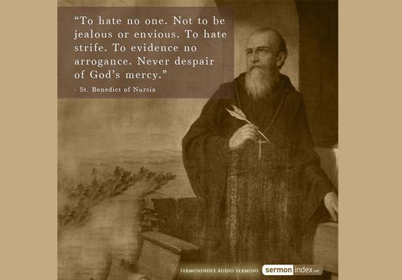 St. Benedict of Nursia Quote 2
