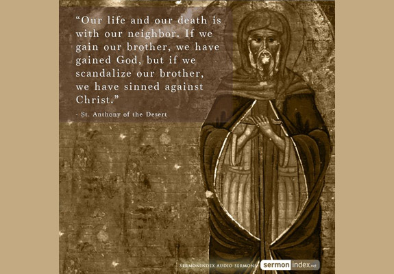 St. Anthony of the Desert Quote