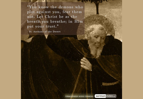 St. Anthony of the Desert Quote 3