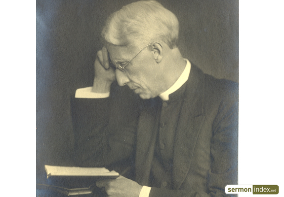 G. Campbell Morgan studying Bible