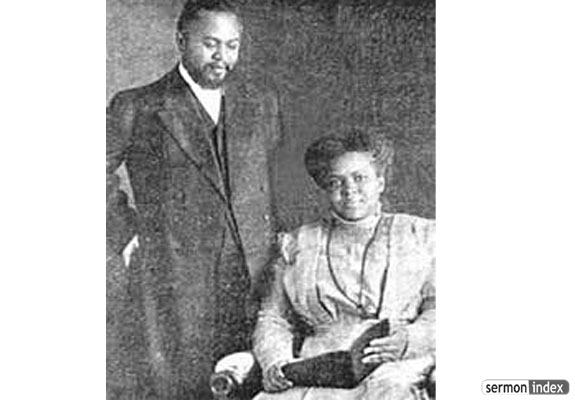 William J. Seymour and his wife, Jenny Moore.