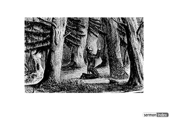 Charles Finney crying out to God in the woods