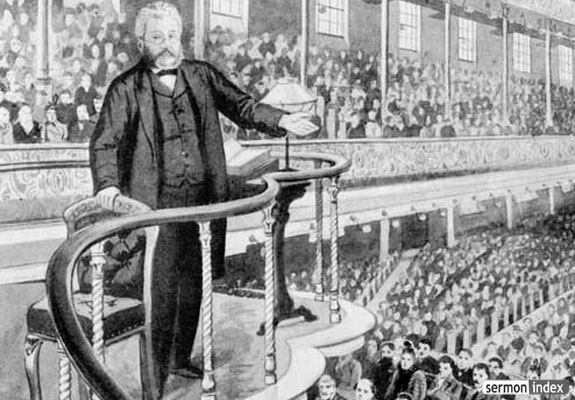 C.H. Spurgeon in the pulpit